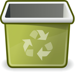 recycle waste bins